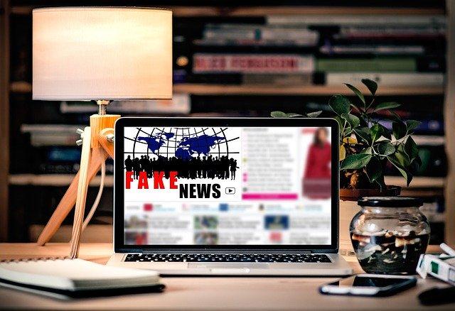 Fake Fake News Media Laptop